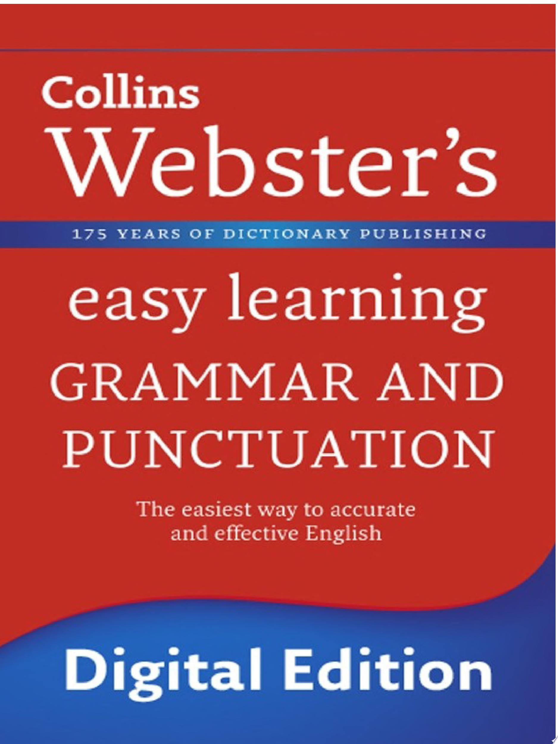 Grammar and Punctuation  Collins Webster   s Easy Learning