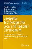 Geospatial Technologies for Local and Regional Development Pdf/ePub eBook