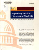 Improving Services for Migrant Students