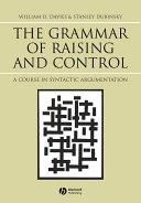 The Grammar of Raising and Control Pdf/ePub eBook