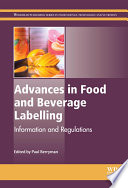 Advances In Food And Beverage Labelling Book PDF