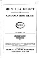 Monthly Digest Of Corporation News