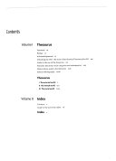 Historical Thesaurus of the Oxford English Dictionary: Index