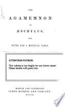 The Agamemnon of Aeschylus Book