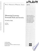 Measuring Economic and Severity