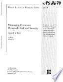 Measuring Economic And Severity Book PDF