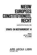 Nieuw europees constitutioneel recht