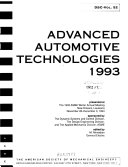 Advanced Automotive Technologies 1993