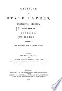 Calendar Of State Papers