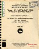 South Station  Boston  Northeast Corridor Improvement Project