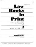 Law Books in Print: Author