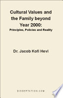 Cultural Values and the Family Beyond Year 2000