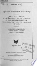 Compendium of Papers on Legislative Oversight Review of U S  Trade Policies