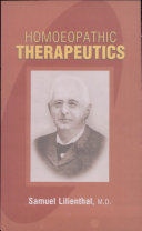 Homoeopathic Therapeutics
