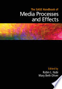The Sage Handbook Of Media Processes And Effects Book PDF