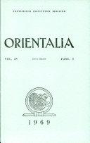 Orientalia: Vol. 38