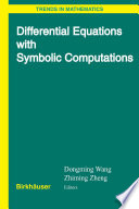 Differential Equations with Symbolic Computation