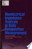 Bioelectrical Impedance Analysis in Body Composition Measurement Book