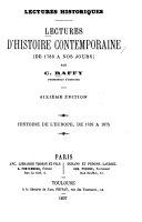 Lectures d'histoire contemporaine (de 1789 à nos jours)