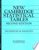 Cover of New Cambridge Statistical Tables
