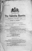The Calcutta Gazette