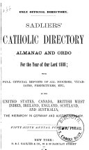 Sadliers  Catholic Directory  Almanac and Clergy List Quarterly