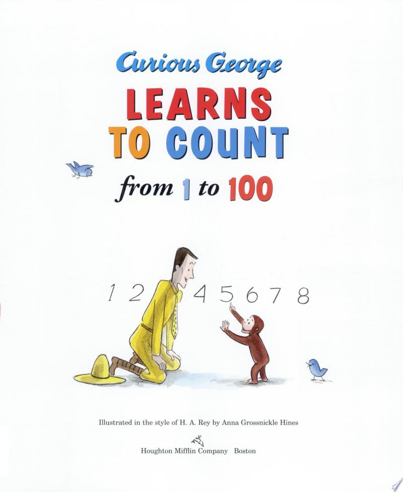 Curious George Learns to Count from 1 to 100 banner backdrop