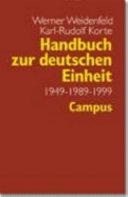 Handbuch zur deutschen Einheit, 1949-1989-1999