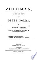 Zoluman  a Tragedy  and Other Poems