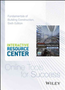 Interactive Resource Center Access Card for Fundamentals of Building Construction  Materials and Methods  Sixth Edition