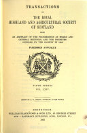Transactions of the Highland and Agricultural Society of Scotland Book