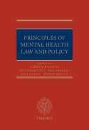 Principles Of Mental Health Law And Policy
