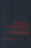 American Criminal Justice Policy: An Evaluation Approach to ...