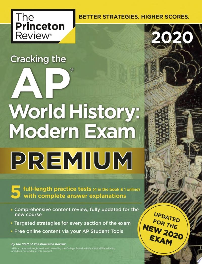 Cracking the AP World History, Modern Exam 2020