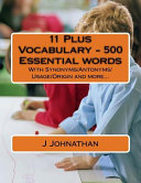 11 Plus Vocabulary   500 Essential Words