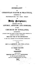 A Summary of Christian Faith and Practice Confirmed by References to the Text of Holy Scripture