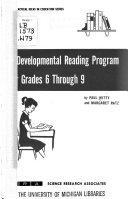 A Developmental Reading Program for Grades 6 Through 9