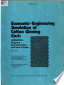 Economic-engineering Simulation of Cotton Ginning Costs : GINMODEL
