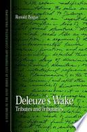Deleuze s Wake
