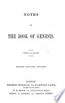 Notes On The Book Of Genesis By C H M I E C H Mackintosh Edited By A M I E Andrew Miller Second Edition Revised