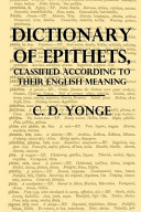 A Dictionary of Epithets