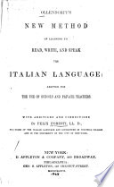 Ollendorff s New Method of Learning to Read  Write  and Speak the Italian Language