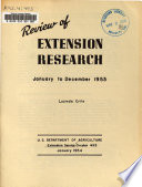 Review Of Extension Research January To December 1953