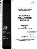 Seawater Desalination Project Book PDF