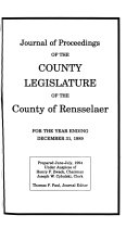Journal Of Proceedings Of The County Legislature Of The County Of Rensselaer