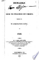 Remarks Made On A Tour To Prairie Du Chien