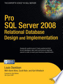 Pro SQL Server 2008 Relational Database Design and Implementation