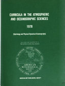 Curricula in the Atmospheric and Oceanographic Sciences 1978