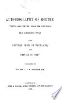 The Auto Biography Of Goethe
