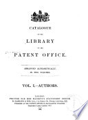 Catalogue of the Library of the Patent Office
